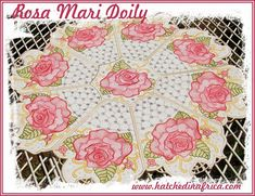 1 , & Doily design *Please Note: The HUS format only includes designs for this set due to size limitations of the hoop. Florals, Embroidery Designs, Applique, Africa, Quilts, Detail, How To Make, Floral, Bruges Lace