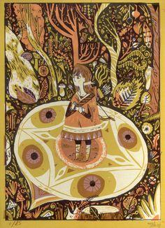 Meg Hunt silkscreen for Cosmic Forest