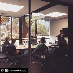 #Repost from award-wining Architecture firm @richardbauer_ .  @asudesignschool students interviewing some of our Sr. designers on St. Patrick's day for their Professional Practice course. #happystpatricksday #architecture #asudesignschool #architectureschool #architecturestudent #futureprofessional
