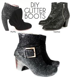 Finally posted up my own how to for glitter shoes.
