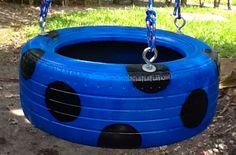 Tire Swing - Blue Spot Tire Swing www.cooltireswings.com