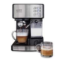 Stop making unnecessary trips to coffeehouses and be your own barista with the Mr. Coffee® Cafe Barista.