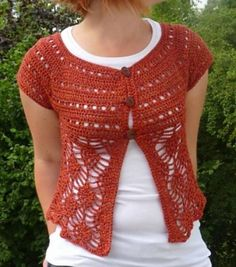 20 Gorgeous Free Crochet Cardigan Patterns for Women: Pineapple Cardigan Free Crochet Pattern
