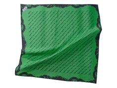 """Silk Neck Scarf """"Non, je ne regrette rien"""" emerald from ZAFRÁN - Schnickschnack de Luxe by DaWanda.com"""