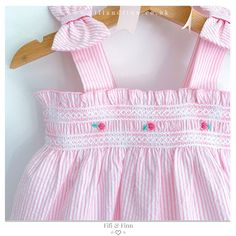 Hand smocked girls dress with hand embroidery, available up to Smocked Baby Clothes, Girls Smocked Dresses, Little Girl Dresses, Kids Clothes Patterns, Baby Girl Dress Patterns, Smocking Baby, Smocking Patterns, Sewing Patterns, Spanish Baby Clothes