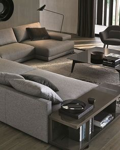 Sofa composition - an example is on display in Beaufort Interiors, Northern Ireland Living Room Sofa Design, Home Room Design, Living Room Interior, Home Living Room, Home Interior Design, Living Room Designs, Living Room Inspiration, Sofa Set, House Rooms