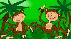 Kinderparty Musik - Die Affen rasen durch den Wald - Kinderlieder deutsch
