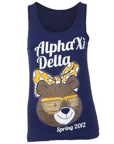 Alpha Xi Delta Bear Greatness Tank