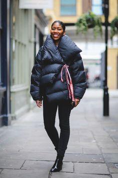 Marques'Almeida coat, COS jeans, Topshop boots