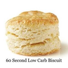 60 second low carb biscuit - 1 T coconut flour 2 T ground flaxseed 1 egg 2 tsp cold Kerrygold butter tsp baking powder 2 grinds pink salt Mix and put in ramekin or small bowl. Microwave for about 60 seconds or bake at 350 for about 15 mins. Ketogenic Recipes, Low Carb Recipes, Cooking Recipes, Coconut Flour Recipes Low Carb, Bisquick Recipes, Pescatarian Recipes, Easy Cooking, Atkins, Pan Cetogénico
