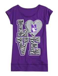 Northwestern Wildcats Tunic Tee and other trendy girls outfits