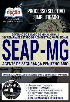 Apostila Processo Seletivo Seap Mg 2018 Cargo Agente De Seguranca