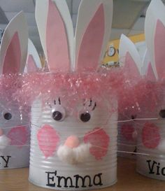 Tin Can Bunny, fun and easy to make
