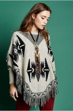 bcc821c3c02c9 Grey and Black Tribal Sweater - Earthbound Trading Co.