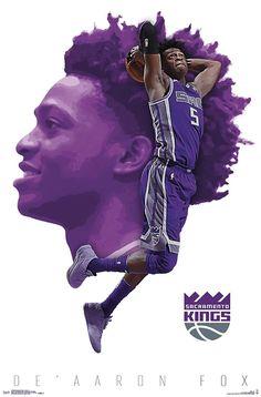Trends International NBA Sacramento Kings - De'Aaron Fox Wall Poster, x Premium Unframed Nba Basketball, Basketball Posters, Basketball Leagues, Basketball Legends, Basketball Tickets, Sports Posters, Nba Pictures, Basketball Pictures, Gfx Design
