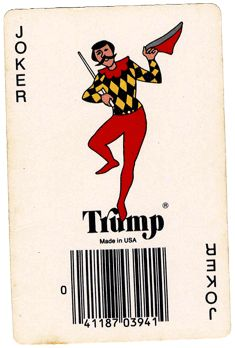 Trump Joker Playing Card, Hoyle Products, a division of Saxon Industries, Inc. Football Jokes, Football Art, Fantasy Football, Football Shirts, Joker Playing Card, Joker Card, Playing Cards, Hoyle Card Games, Cards