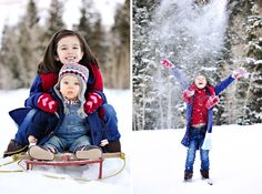 Rebekah Westover Photography | Bring out the sleds for children's photos! Keep this in mind for Christmas Card Mini Sessions.