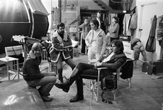 Mark Hammill, George Lucas, Carrie Fisher & Harrison Ford on 'Empire Strikes Back' set by JW Rinzler