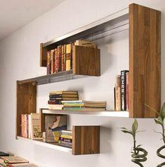 Kuvahaun tulos haulle kirjahylly ideoita House Projects, Bookcase, Shelves, Home Decor, Shelving, Decoration Home, Room Decor, Book Shelves, Shelving Units
