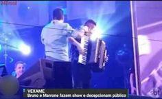 VEXAME: Bruno, da dupla com Marrone, faz show bêbado em Minas Gerais e decepciona público