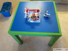 "DIY lego table: http://forums.huaren.us/showtopic.aspx?topicid=1327902。 total cost: $5*4 (lego 10"" plate, $5 each at amazon.com )+$5 (Ikea table)=$25. We made one ourselves. My kid loves it.uses it everyday."