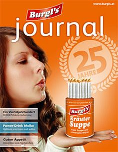 25 Jahre Burgl's Reformkost! Personal Care, Journal, Drinks, Movie Posters, Beauty, Drinking, Self Care, Beverages, Personal Hygiene