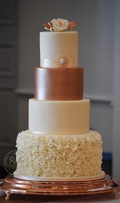 346 Best Rose Gold Cakes Images In 2019 Cake Toppers Metallic