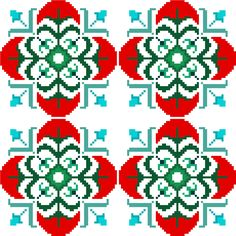 Traditional cross stitch design in modern jewelled colours, perfect for cushion covers and other larger projects by CrossStitchtheLine
