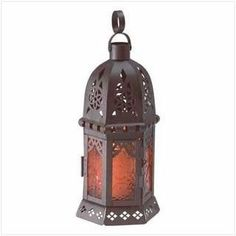"Moroccan Candle Lantern 10"""