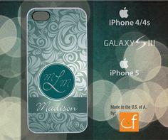 iPhone 4/4s/5 or Samsung S3 Case Custom Monogram  by CaseFase, $18.00