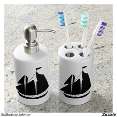 Sailboat Bath Set