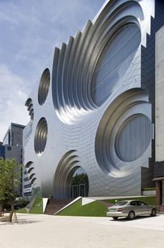 Kring Kumho Culture Complex / Unsangdong Architects Best Picture For facade arquitectura For Your Taste You are looking for something, and it is going to te Architecture Unique, Cultural Architecture, Futuristic Architecture, Interior Architecture, Installation Architecture, Interior Design, Commercial Architecture, Building Architecture, Architecture Colleges