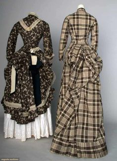 North America's auction house for Couture & Vintage Fashion. Augusta Auctions accepts consignments of historic clothing and textiles from museums, estates and individuals. 1870s Fashion, Edwardian Fashion, Vintage Fashion, Vintage Dresses, Vintage Outfits, 19th Century Fashion, 18th Century, Bustle Dress, Victorian Costume