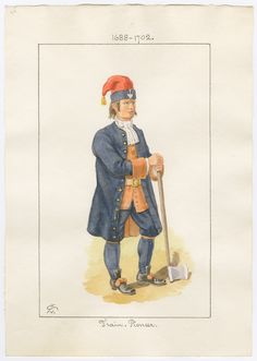 British, The Train, Pioneer by Charles Lyall Military Dresses, Military Uniforms, English Army, British Army Uniform, British Armed Forces, Seven Years' War, 18th Century Clothing, Louis Xiv, British Colonial