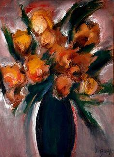 Flores Carlos Bracher (Brasil, 1940) óleo sobre tela, 80 x 60 cm