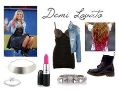 """""""Demi Lovato Inspired"""" by niall-and-the-potatoes-xx ❤ liked on Polyvore featuring Dr. Martens, A