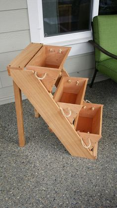 """2, 3, or 4 16"""" large planters gardening system, large planter, pot, raised garden bed system, strawberry, patio, condo, urban, free shipping by RopedOnCedar on Etsy https://www.etsy.com/listing/171499237/2-3-or-4-16-large-planters-gardening"""