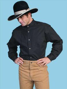 Mens Wah Maker Old West Inset Bib Long Sleeve Shirt | AA Callisters