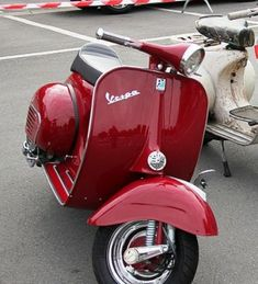 Red vespa girl scooters with photos 156