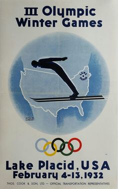 Original+vintage+poster+III+Olympic+Winter+games+Lake+Placid+1932+-+Wiltod+GORDON