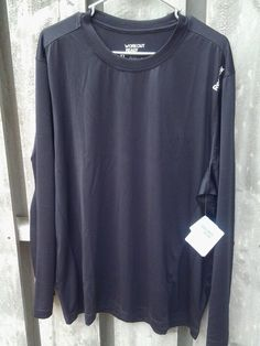 Reebok Workout Ahletic Shirt Layers XL Black Long Sleeves #Reebok #Athletic