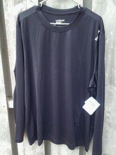 New Reebok Play Dry Dri fit Mens Long Sleeve Training Shirt, XL, black  #Reebok #BaseLayers