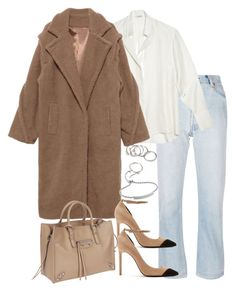 """""""Untitled #5360"""" by theeuropeancloset on Polyvore featuring RE/DONE, Yves Saint Laurent, Balenciaga, Forever 21 and Monica Vinader"""