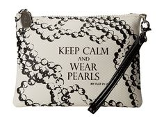 My Flat In London Pretty Witty & Wise Zip Pouch Natural/Black - Zappos.com Free Shipping BOTH Ways