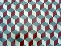3d Tiles, Cube Pattern, Duplex House Design, No Way Out, Tile Floor, Flooring, Texture, Inspiration, Patterns