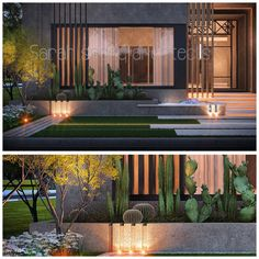 400 m private villa kuwait , landscaping