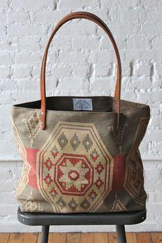 1950's era Santa Fe Woven Tote Bag - FORESTBOUND