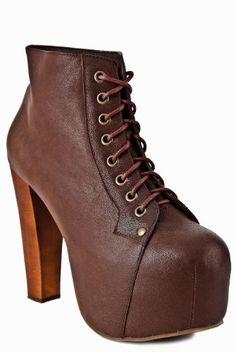Buy New: $152.00: #Shoes - Jeffrey Campbell Lita High Heel Bootie - Brown Leather