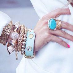 Arty ring + bracelets, pretty