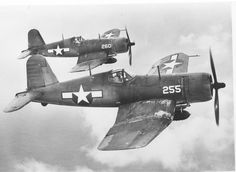 USMC F4U-1A Corsair aircraft of VMF-224  South Pacific with 1000 pound bombs 1944